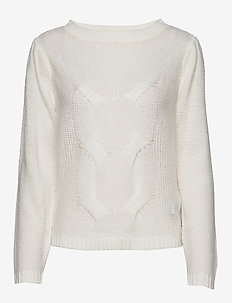 VIPOLANA KNIT L/S TOP/SU - jumpers - white alyssum
