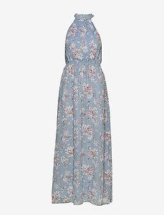 VISMILLA MAXI DRESS/DC - maxi dresses - ashley blue