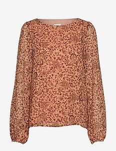 VIMEDOVA L/S TOP - long sleeved blouses - rose smoke