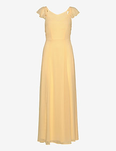 VIRILLA OPEN BACK MAXI DRESS/DC/SU - maxi dresses - mellow yellow