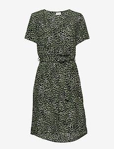 VIPRIMERA WRAP S/S DRESS-FAV LUX - slå-om-kjoler - loden frost