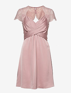VISHEA CAPSLEEVE DRESS/DC - short dresses - pale mauve