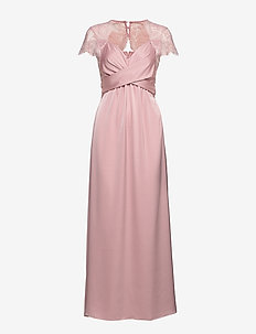 VISHEA CAPSLEEVE MAXI DRESS/DC - maxi dresses - pale mauve