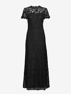 VICORALIA S/S MAXI DRESS/DC - maxi dresses - black