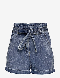 VICLASH HWRX SHORTS/ DES - jeansshorts - medium blue denim