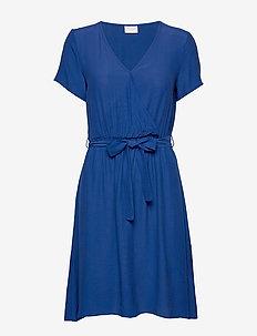 VIPRIMERA WRAP S/S DRESS-FAV - wrap dresses - mazarine blue