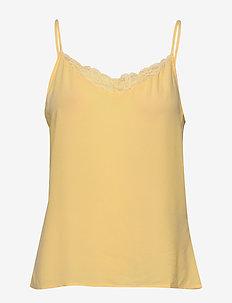 VIMERO LACE SINGLET/SU - FAV - Ärmlösa blusar - mellow yellow