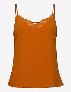 VIMERO LACE SINGLET/SU - FAV - blouses sans manches - pumpkin spice