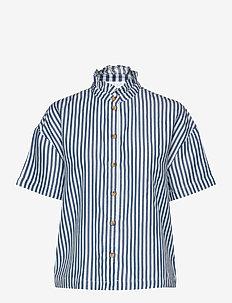 VISUKA S/S SHIRT /SU - kortermede skjorter - white alyssum