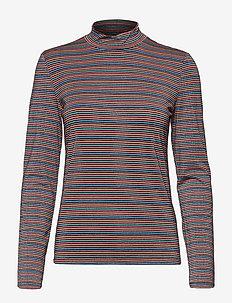 VITABY L/S TOP/KA - t-shirts à rayures - navy blazer