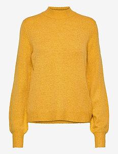 VIHANNA BALLOON L/S KNIT TOP/SU - swetry - mineral yellow