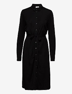 VISAFINA MIDI L/S DRESS - NOOS - shirt dresses - black