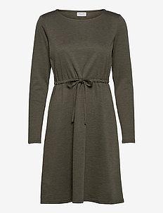 VIJUNER L/S DRESS  - NOOS - midi dresses - forest night
