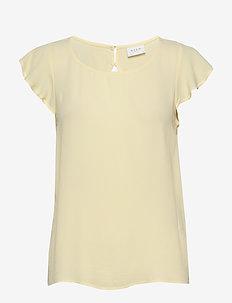 VIMARITA S/S TOP - t-shirts - mellow yellow