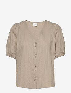 VIMOLISSA S/S TOP - short-sleeved blouses - nomad