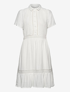 VIJESSAS S/S DRESS/KI/DES/SU - shirt dresses - cloud dancer