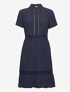 VIJESSAS S/S DRESS/KI/DES/SU - shirt dresses - navy blazer