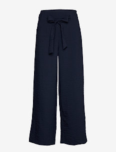 VILINEA HWRE 7/8 WIDE PANTS/SU/KI - wide leg trousers - navy blazer
