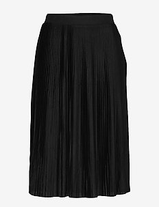 VIPLISS MIDI SKIRT - midinederdele - black