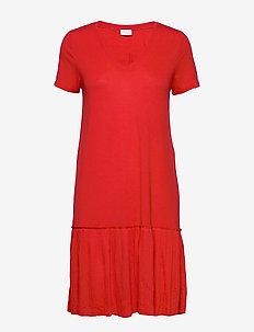 VIPLISS S/S DRESS - do kolan & midi sukienki - flame scarlet