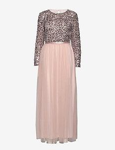 VISPARROW L/S MAXI DRESS/1 - maxi dresses - rose smoke