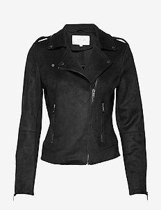 VIFADDY JACKET - NOOS - leren jassen - black