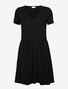 VIANIKA S/S DRESS - do kolan & midi sukienki - black