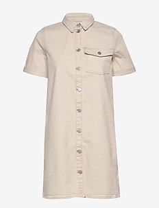 VIGLOVE S/S DENIM DRESS C10/SU - skjortklänningar - whisper white