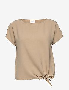 VIRASHA S/S  TIE  TOP - basic t-shirts - nomad