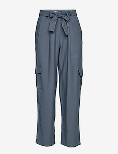 VIBETTY  RWRE 7/8 PANTS - raka byxor - china blue