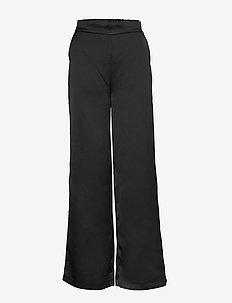 VIALICE HWRE PANTS - wide leg trousers - black