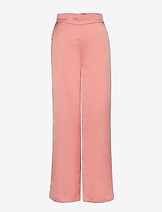 VIALICE HWRE PANTS - wide leg trousers - rose tan