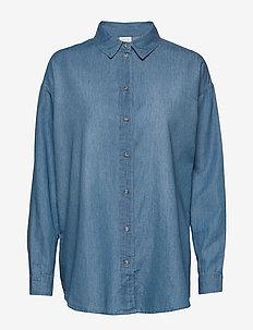 VIFLASH L/S SHIRT - chemises en jeans - medium blue denim
