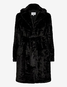VIBODA NEW FAUX FUR COAT/PB/SU - fuskpäls - black
