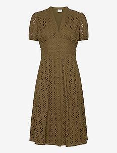 VICARLINE S/S MIDI DRESS - do kolan & midi sukienki - dark olive