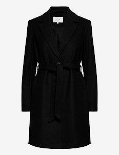 VIJOSELIN WOOL COAT/PB/SU - wool coats - black