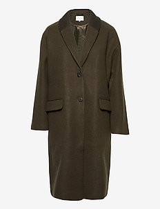 VICALLEE WOOL COAT/SU/DES - wool coats - forest night