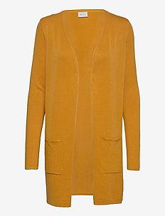 VIBOLONSIA KNIT POCKET L/S CARDIGAN TB - cardigans - mineral yellow