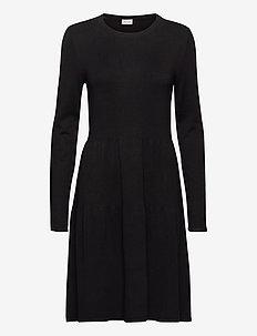 VIBOLONSIA KNIT L/S DRESS TB - midi jurken - black