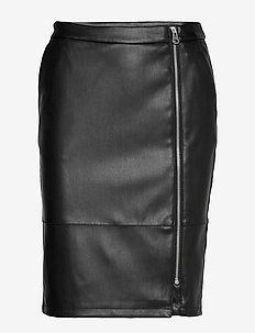 VIPEN ZIPPER SKIRT/L - midi kjolar - black
