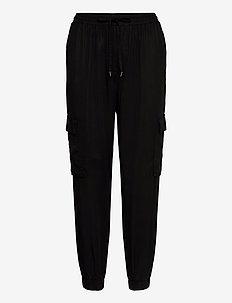 VILISTI RWRX 7/8 PANTS/DES/SU - broeken med straight ben - black