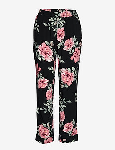 VISTORMI 7/8  PANTS/RX - straight leg trousers - black