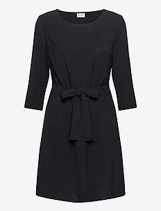 VIRASHA 3/4 DRESS - midi dresses - black