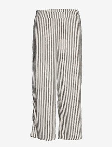 VIVANILLA HWRX CROPPED PANT - wide leg trousers - snow white