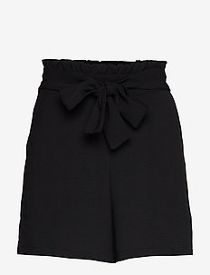 VIRASHA HW SHORTS/2 - paper bag shorts - black