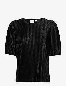 VIPLEASA 2/4 SLEEVE TOP - t-shirts - black