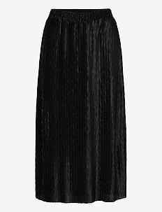 VIPLEASA HW MIDI SKIRT/DES - maxi skirts - black