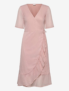 VIAVA 2/4 WRAP DRESS/NLY - PALE MAUVE