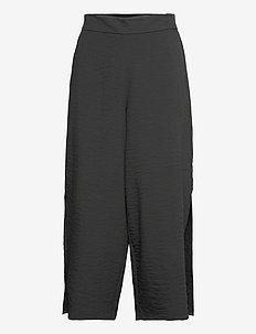 VILINEA RW 7/8 PANTS/2 - bukser med brede ben - black