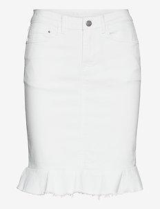 VICOMMIT PEPLUM DENIM SKIRT/2 - denim skirts - white alyssum